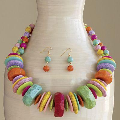 Multicolor Necklace/Earring Set