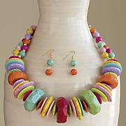 multicolor necklace earring set 28
