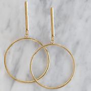 contemporary circle drop earrings