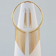fringe flex collar necklace earring set