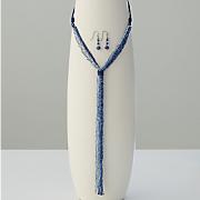 bead tassel necklace earring set 5