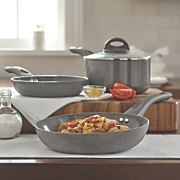 Ginny's Brand® 4-Piece Ceramic Speckle Saucepan and Fry Pan Set