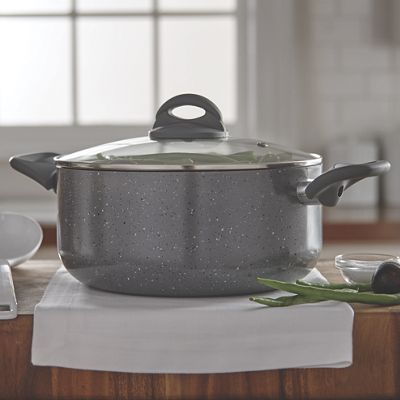 Ginny&#39;s Brand<sup class='mark'>&reg;</sup> 5-Qt. Ceramic Speckle Dutch Oven with Lid