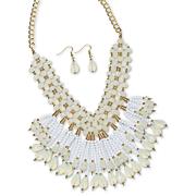 bead tassel necklace earring set