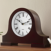 mantle clock with locking cabinet