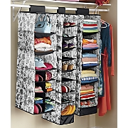 set of 3 hanging closet organizers