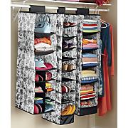 set of 3 hanging closet organizers