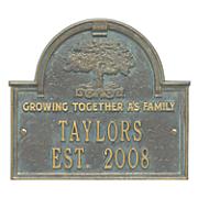 family tree anniversary plaque