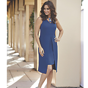 camila overlay sheath dress