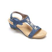 flower rhinestone sandal by midnight velvet