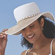 delta metallic brim hat