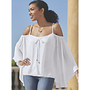 georgia cold shoulder top