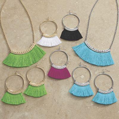 Fringe/Bar Necklace/Earring Set