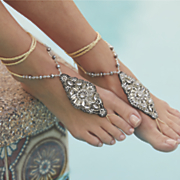 bead crystal foot jewelry