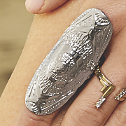 embossed stretch ring