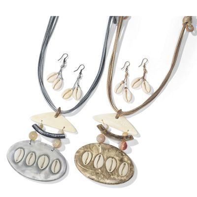 Shell Necklace/Earring Set