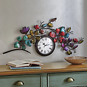 metal floral wall clock