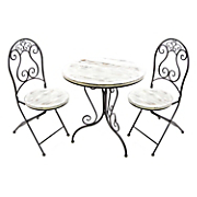 3 pc  wrought iron bistro set