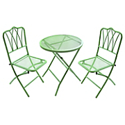 3 pc  metal bistro set