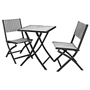 3 pc  square bistro set