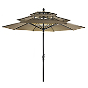 9  3 tier garden umbrella