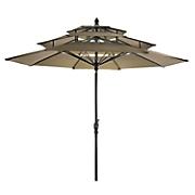 9  3 tier garden umbrella