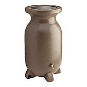 75 gallon sandstone look decorative rain barrel