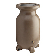 75 gallon sandstone look decorative rain barrel