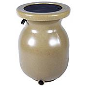 50 gallon sandstone look decorative rain barrel