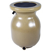 50 gallon sandstone look decorative rain barrel