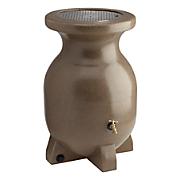 55 gallon sandstone look decorative rain barrel