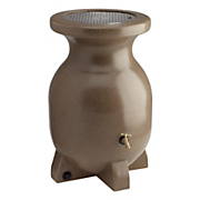 55 gallon sandstone look decorative rain barrel