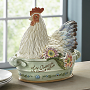 covered rooster dish by fitz   floyd