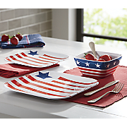 american flag 12 pc  melamine dinnerware set