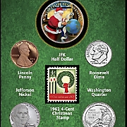 Year to Remember Santa Card — 2016 Coins and First-Ever U.S. Christmas Stamp