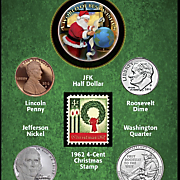 year to remember santa card   2016 coins and first ever u s  christmas stamp