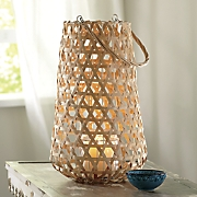 large wicker lantern