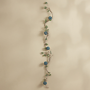 aqua rattan twig garland