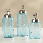 set of 3 seaside canisters