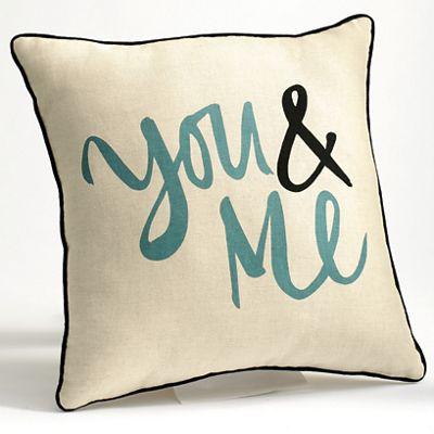 You & Me Pillow