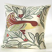 applique bird pillow