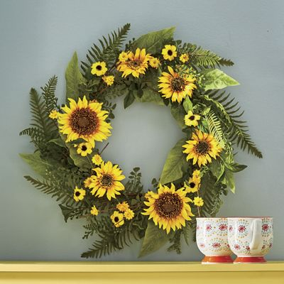 Mixed Sunflower Wreath