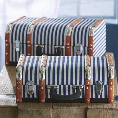 Set of 2 Striped Trunks