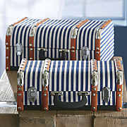 set of 2 striped trunks