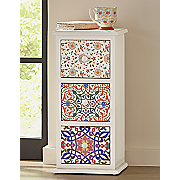 patterned 3 drawer cabinet