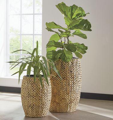 Set of 2 Weave Planters
