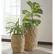 set of 2 weave planters