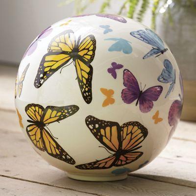 Ceramic Butterfly Orb