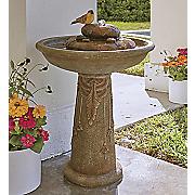 outdoor bird fountain
