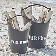 set of 2 firewood buckets